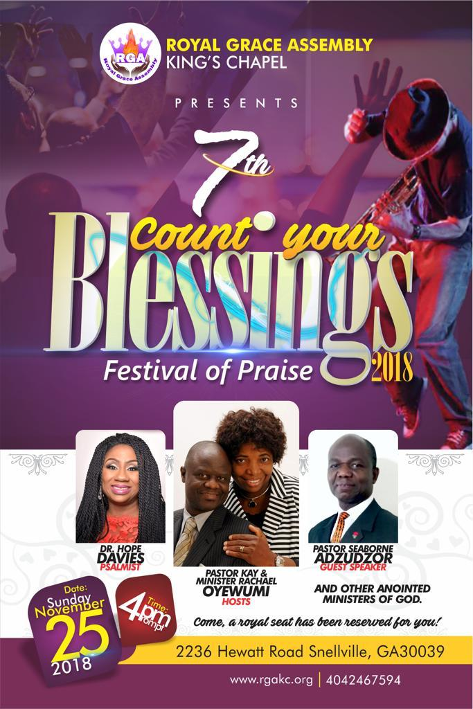 Count Your Blessings 2018 | Royal Grace Assembly (King's Chapel)